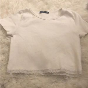 brandy top with ruffled ends